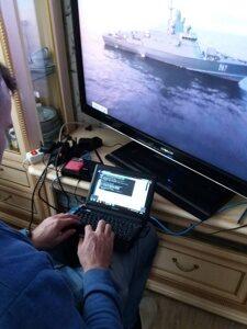 Настройка видеонаблюдения инженером компании САБ